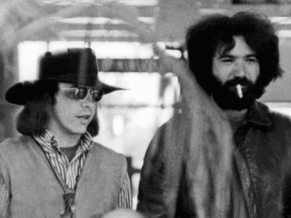 Photo of Bear (Owsley) and Jerry Garcia in the late 60s